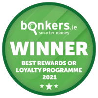 Best Rewards & Loyalty Programme, Bonkers.ie National Consumer Awards 2021